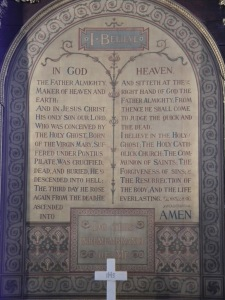 Apostle's Creed at Wesley's Chapel