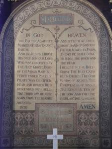 Apostle's Creed at Wesley's Chapel